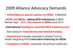 2009 alliance advocacy demands