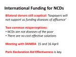 international funding for ncds