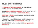ncds and the mdgs