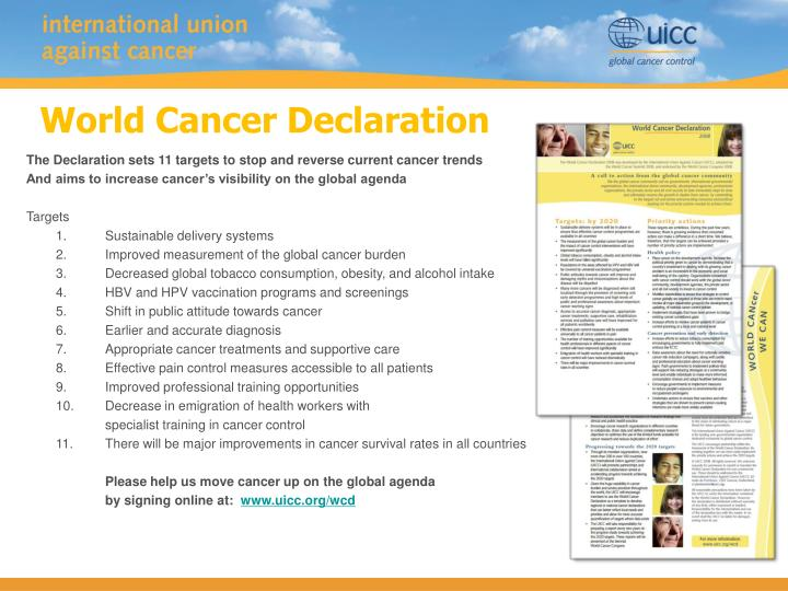 World Cancer Declaration