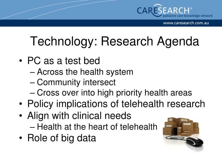 Technology: Research Agenda