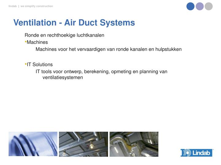 Ventilation - Air Duct Systems