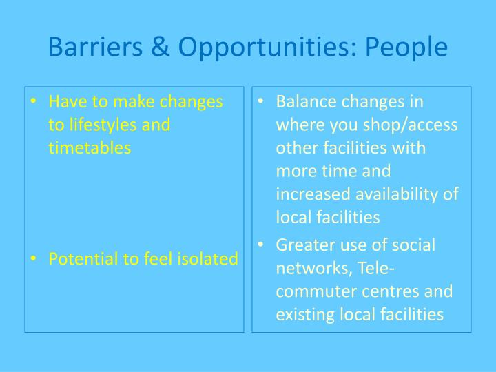 Barriers & Opportunities: People