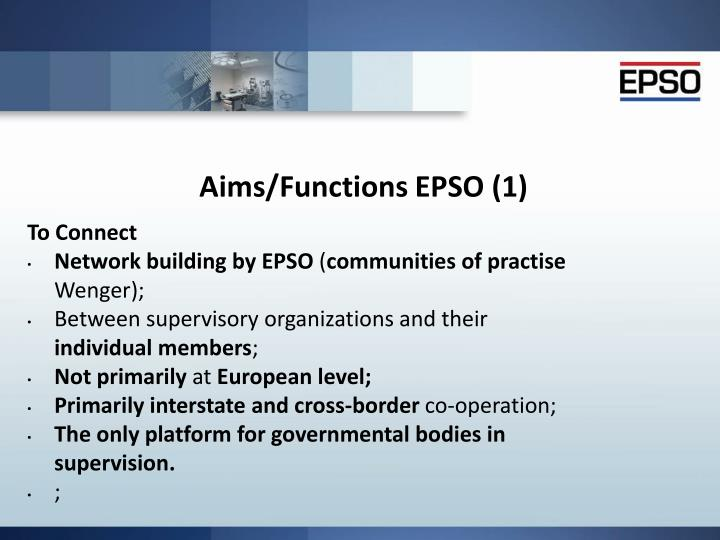 Aims/Functions