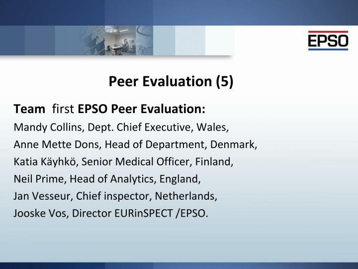 Peer Evaluation (5)