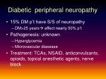 diabetic peripheral neuropathy