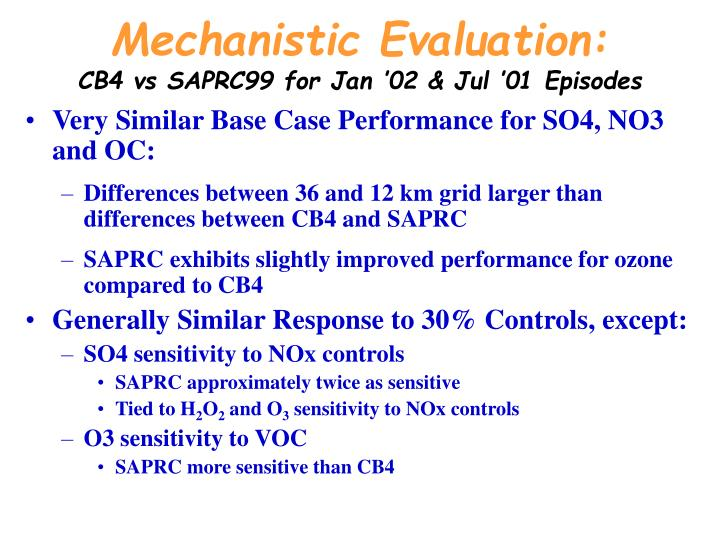 Mechanistic Evaluation: