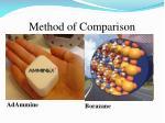 method of comparison