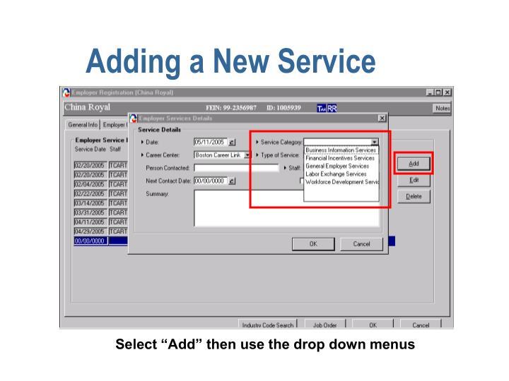 Adding a New Service