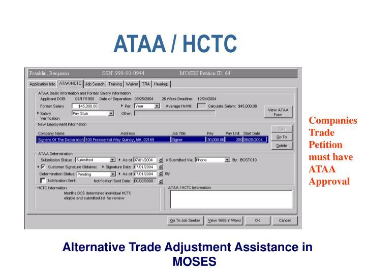 ATAA / HCTC