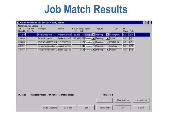 Job Match Results