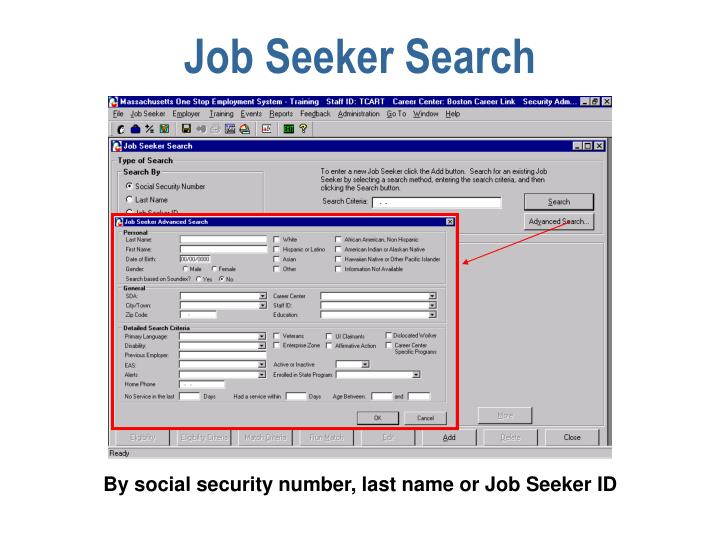 Job Seeker Search