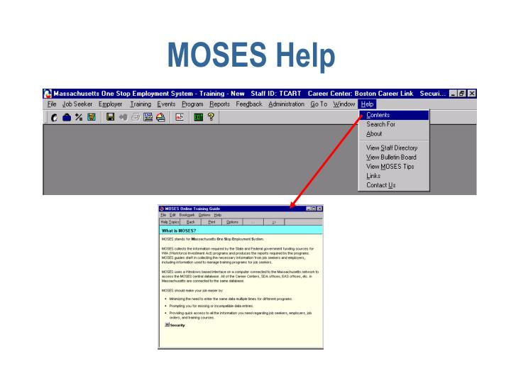 MOSES Help