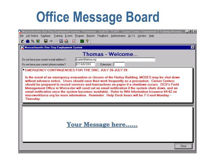 Office Message Board