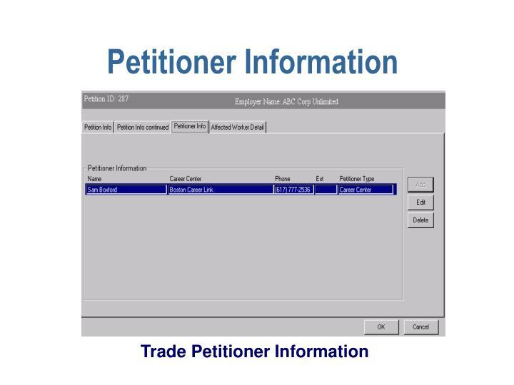 Petitioner Information