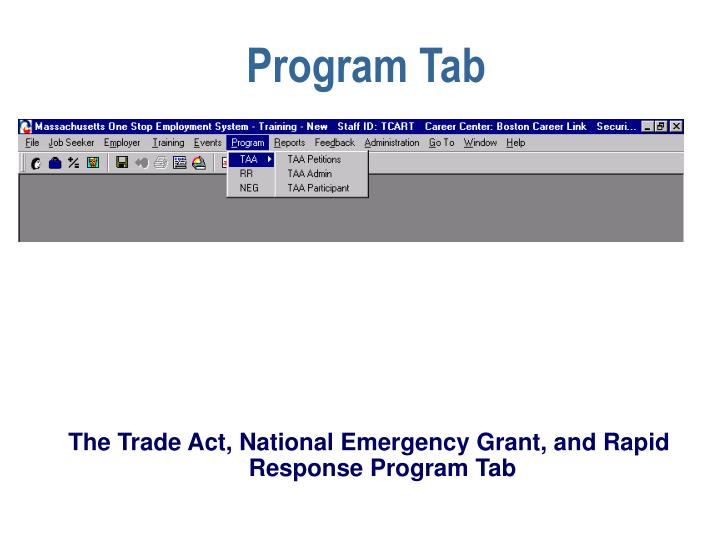 Program Tab