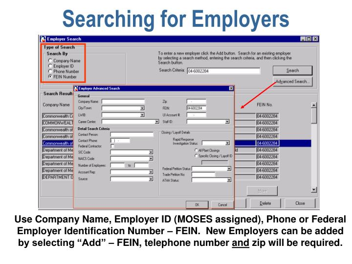 Searching for Employers