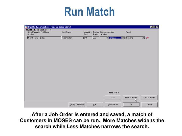 Run Match