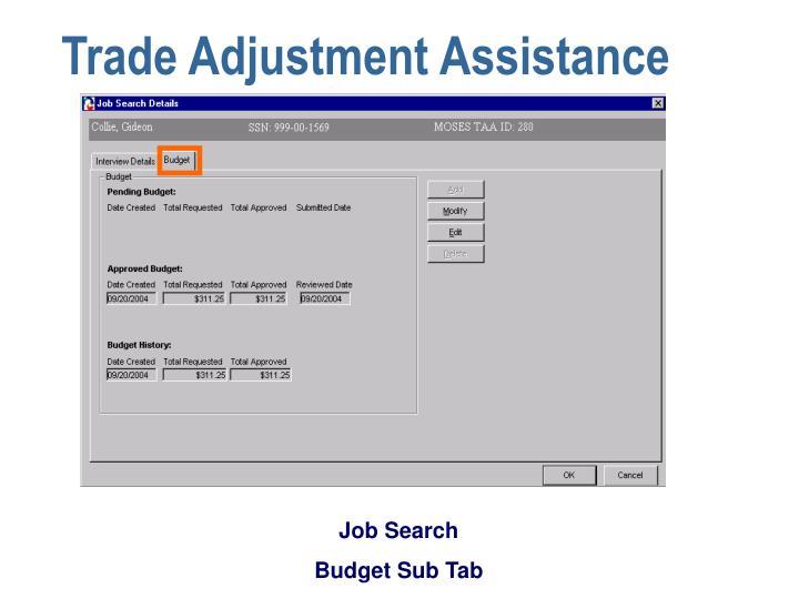Trade Adjustment Assistance