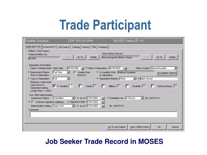 Trade Participant