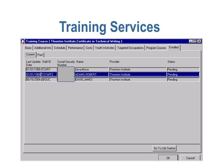 Training Services