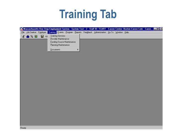 Training Tab