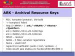 ark archival resource keys