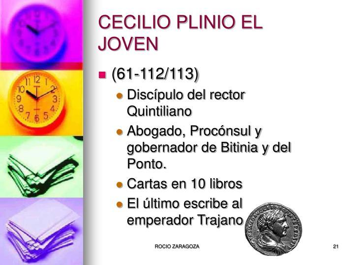 CECILIO PLINIO EL JOVEN