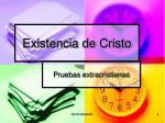 existencia de cristo