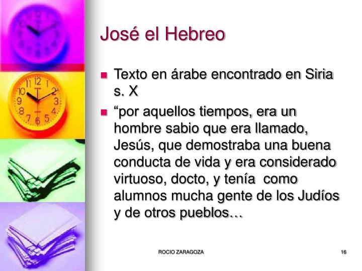 José el Hebreo