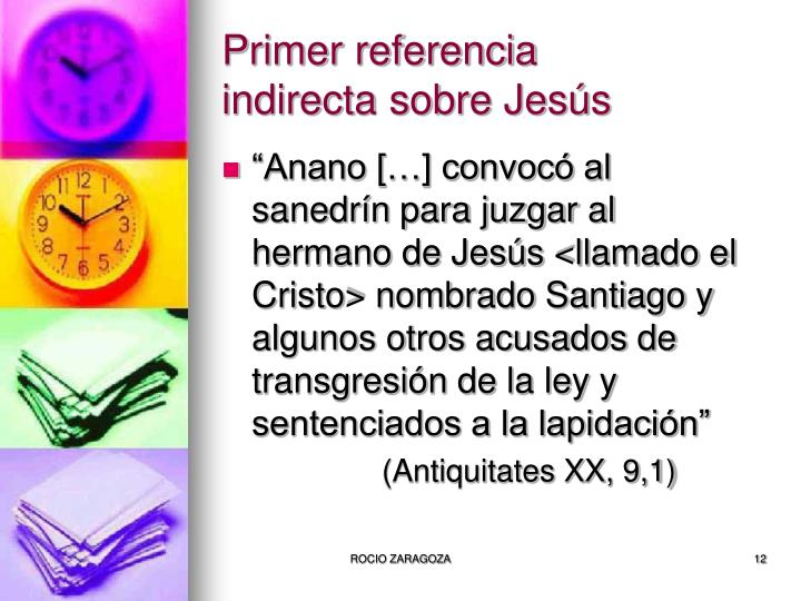 Primer referencia indirecta sobre Jesús