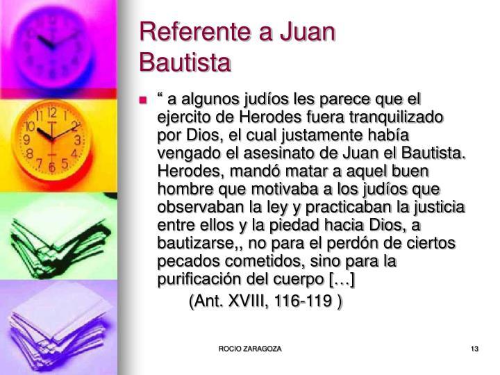 Referente a Juan Bautista