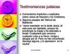 testimonianzas judaicas