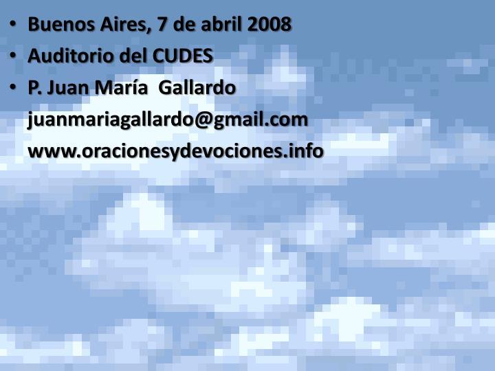 Buenos Aires, 7 de abril 2008