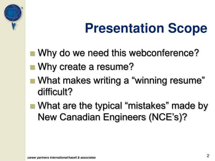 Presentation Scope