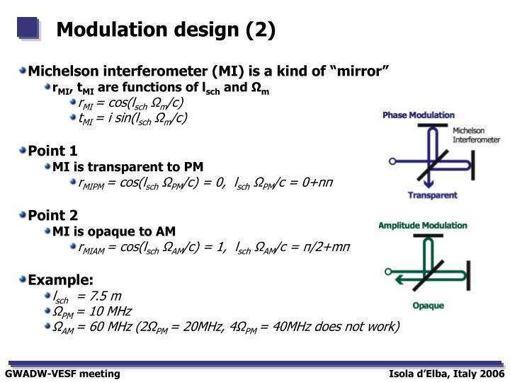 Modulation design (2)
