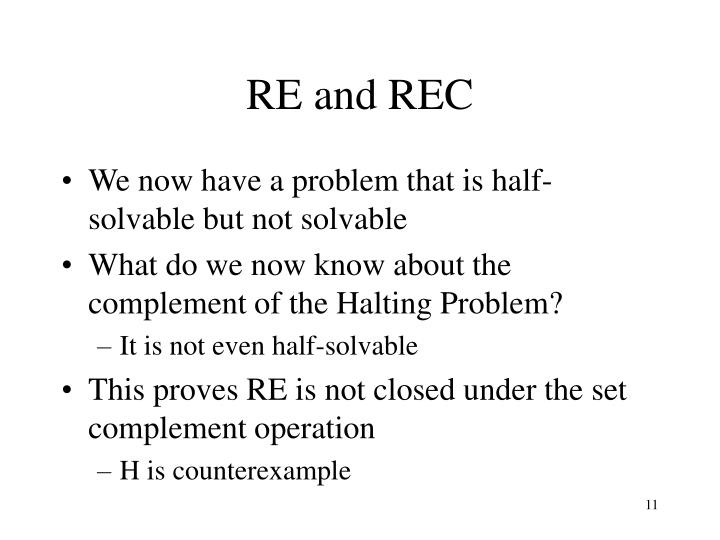 RE and REC