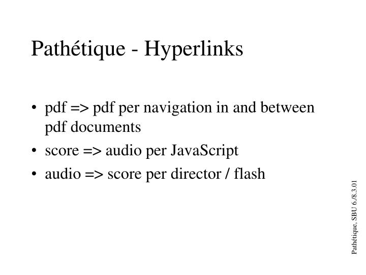 Pathétique - Hyperlinks