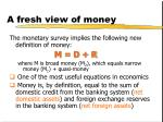 a fresh view of money