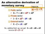 an alternative derivation of monetary survey6