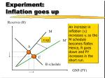 experiment inflation goes up