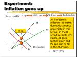 experiment inflation goes up1