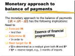 monetary approach to balance of payments1