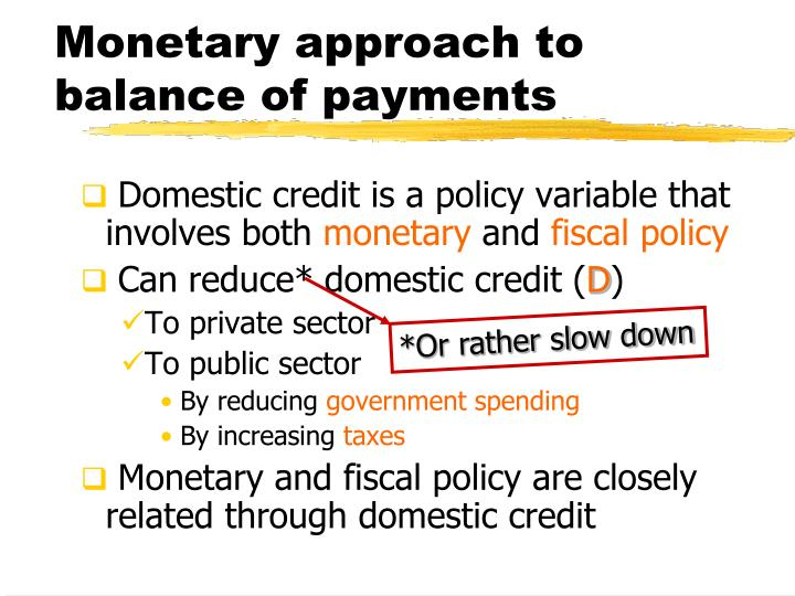 Monetary approach to balance of payments