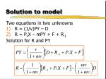 solution to model