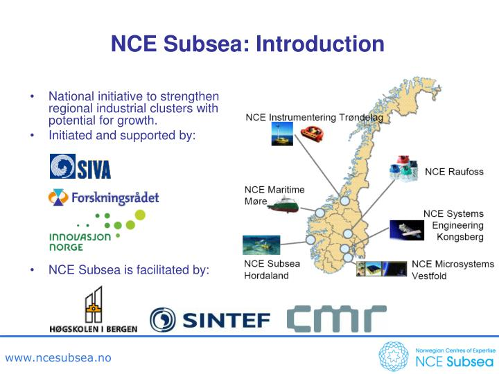 NCE Subsea: Introduction