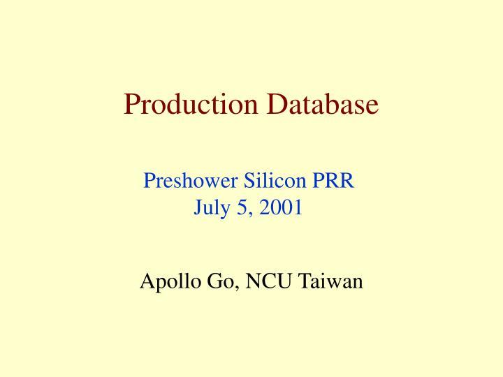 production database