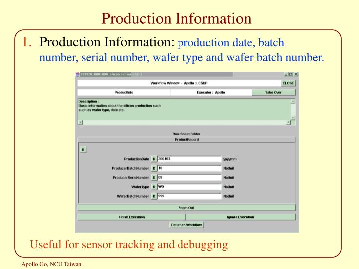 Production Information
