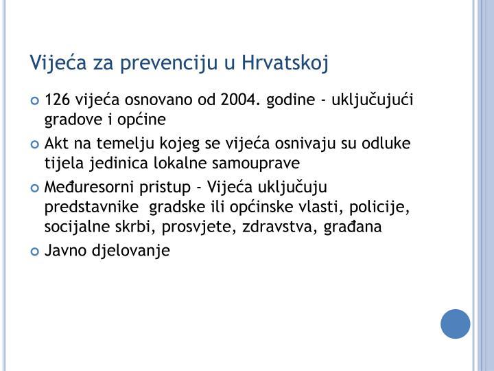 Vijeća za prevenciju u Hrvatskoj