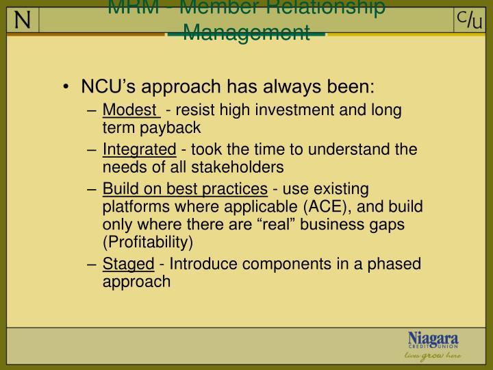 MRM - Member Relationship Management